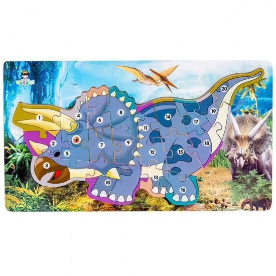 Set Puzzle Dinozauri Alfabet si cifre