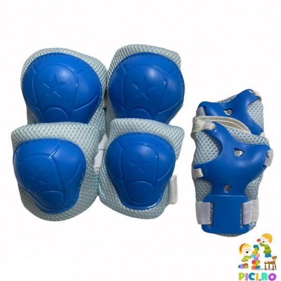 Set 3 protectii role/skateboard albastru copii