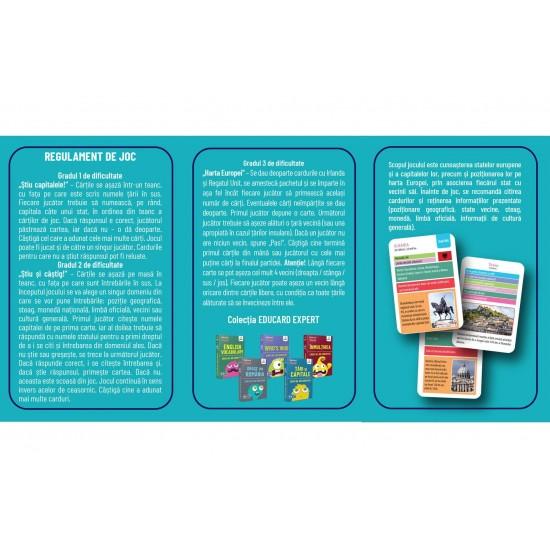 Carti de joc educative EduCard Expert Europa Tari si Capitale