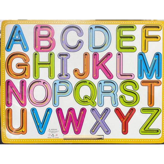 Placa Alfabet cu creion pentru trasare