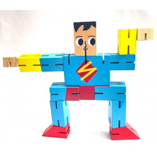 Superman din lemn transformabil