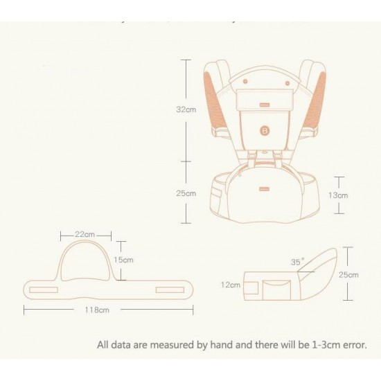 Marsupiu cu scaunel Baoneo 3 in 1