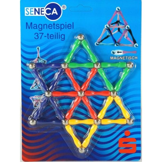 Set constructie magnetic 37 piese