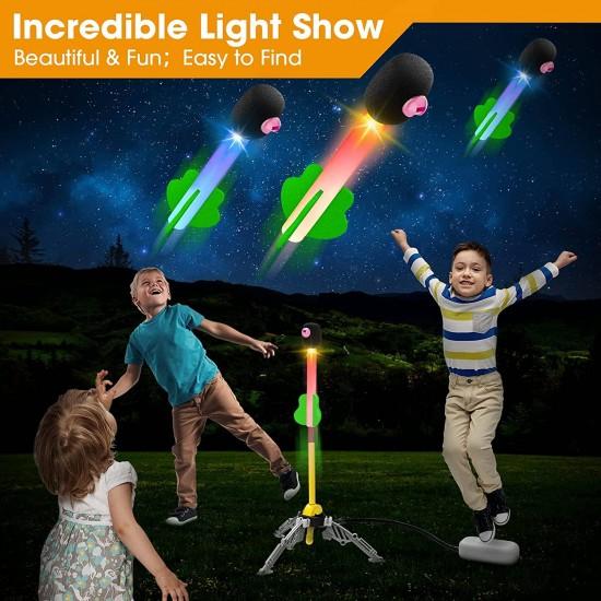 Set 3 rachete cu lumina si pompa de aer Lighting Rocket