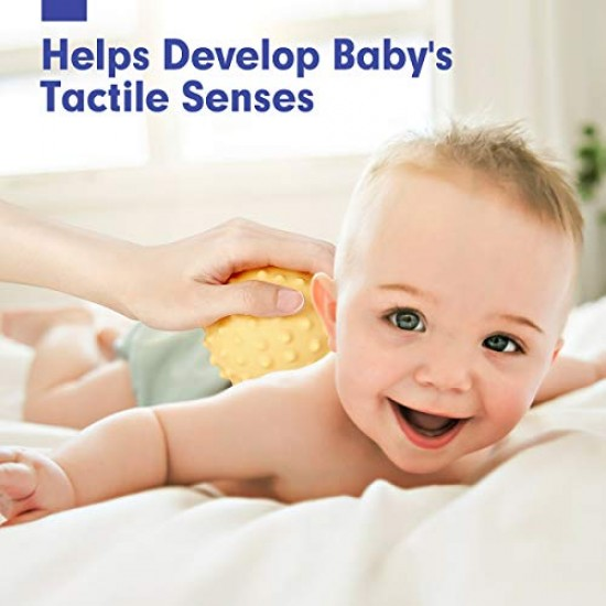Set 9 mingi senzoriale pentru bebelusi