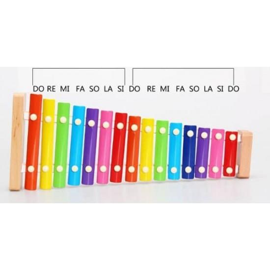 Xilofon copii cu 15 note