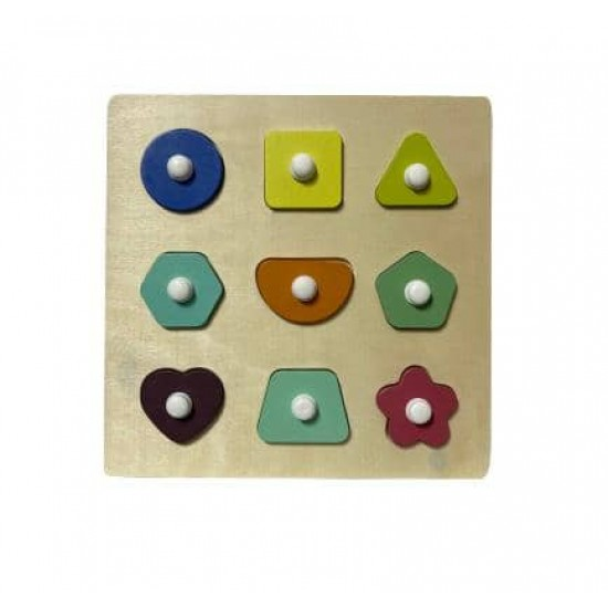 Puzzle forme geometrice Pastel
