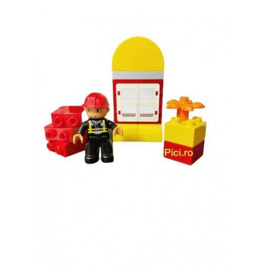 Set piese lego de construit Pompier