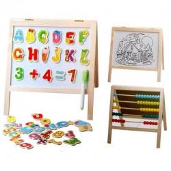 Tabla magnetica educativa de scris cu abac 31x26 cm