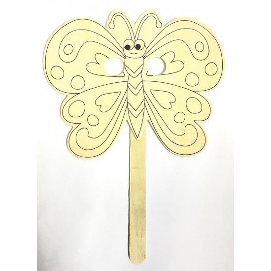 Masca din lemn Fluturas