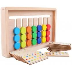 Labirint asociere culori Joc Montessori 7 culori